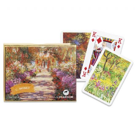 Piatnik Monet Giverny Bridge Set of 2 Packs of Playing Cards